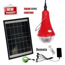 Lampe maison solaire portable avec 3 Lampes led, intérieur lampes solaires pour l'éclairage à la maison