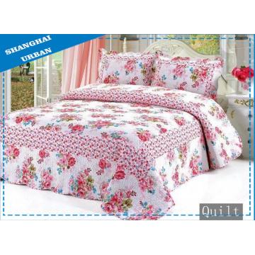 100% Baumwolle Blumendruck Bettwäsche Bettdecke (Quilt)