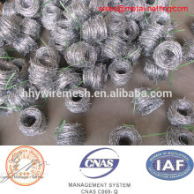 Galvanized boundary thorny fence barbed wire