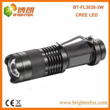 Hot Sale multifonctionnel 1 * AA ou 14500 Rechargeable Cree 700lumen en aluminium Taille de poche réglable Focus mini led lampe de poche