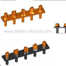 Botão de borracha de silicone de dureza dupla com preço competitivo