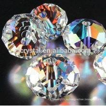 Горячие оптовые стеклянные бусины rondelle стеклянные, кристаллические шарики rondelle, шарики