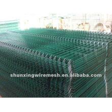 Panneau de clôture en maille soudée revêtue PVC PVC