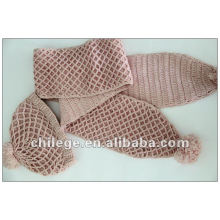100% cashmere hat and scarf