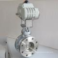 Haute qualité en métal ss304 trois papillon excentrique d'étanchéité avec actionneur électrique