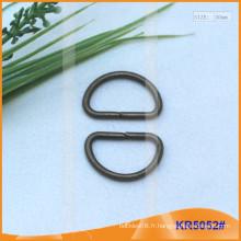 Boucles métalliques en métal de 20 mm, régulateur en métal, anneau en D en métal KR5052