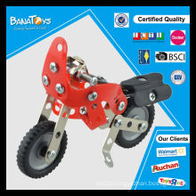 Fashion toys bricks metal assembling toy motorcycle sale