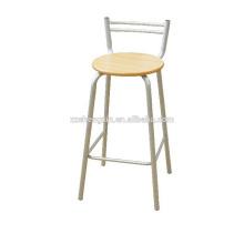Cadeira de bar alto, encosto de cadeira de metal em aço para venda