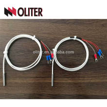 stainless steel braided cable ss304 probe waterproof pt1000 sensor with price