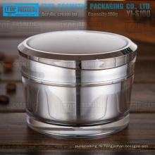 YJ-S100 100g heißer Verkauf Hochglanz Luxus 1. Klasse Acryl Material 100g Doppelwand Glas