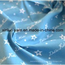 Красивее синей звезды мультфильм печать ткань для платье/лист