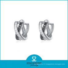 Boucle d'oreille de mode fantaisie en argent 925 de mariage avec bon placage (E-0072)
