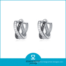 Wedding 925 Silver Fancy Fashion Earring with Good Plating (E-0072)