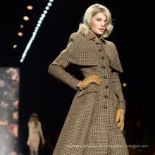 zertifizierte echte Wolle Stoff Fischgrätenmuster Harris Tweed Stock Kleidung von Harris Tweed Lieferant