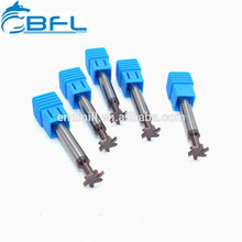 BFL Molino de extremo con ranura en T para carburo de grano ultra micro, Fresa con ranura en T para mecanizado de acero