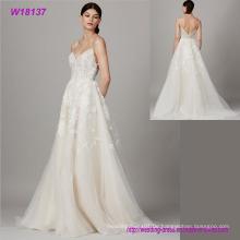 Spezielle Design für Brautkleid Heißer Verkauf Mode Spitze Grenadine Hochzeitskleid