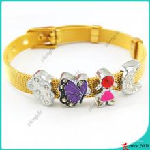 Encantos de venda quente da corrediça para o bracelete de aço inoxidável (SC16041910)