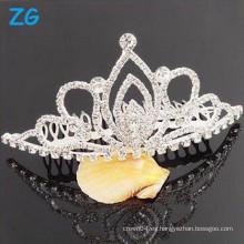 Precioso cristal nupcial pelo accesorio peines de pelo, peines de pelo de metal, peines de pelo baratos personalizados