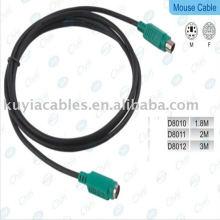 Высококачественный удлинительный кабель PS / 2 для клавиатуры / мыши