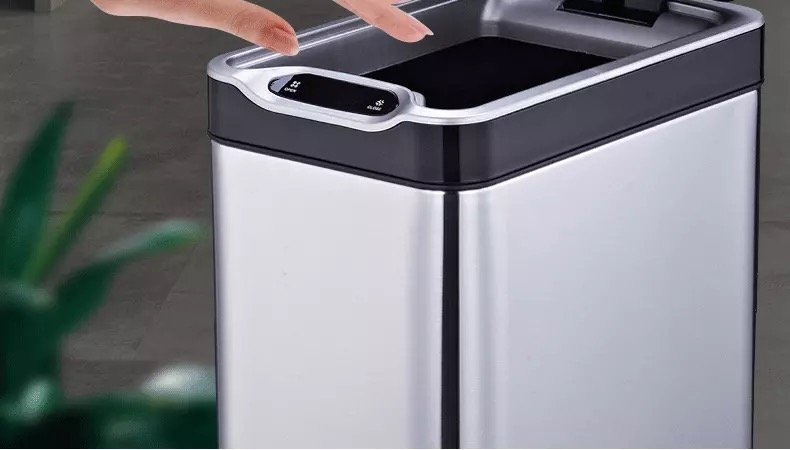 Induction sensor bin