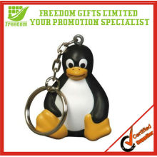 Cute Sitted PU Penguin Keychain
