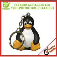Cute Sitted PU Penguin Keychain