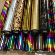 Embalagem de presentes coloridos Papel metálico em papelão DIY Metalizado