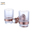 Copper Glass Brown Double Tumber Holder