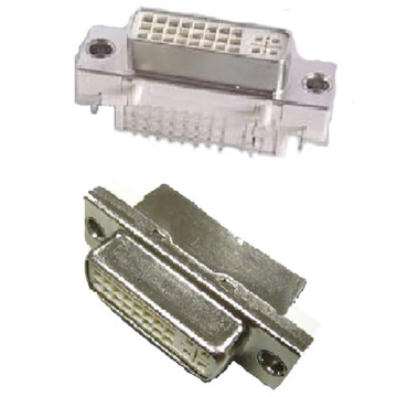 DVI 24 + 5 Female Angle DIP Type Shield