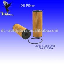 Elemento filtrante de óleo lubrificante 104 180 01 09 para Mercedes-Benz