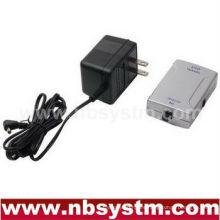 Adaptador de audio digital óptico a coaxial