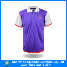 Wholesale Men Two Tone Polyester Printing Promotional Polo Shirt