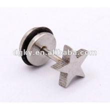 Aço inoxidável Star design homens orelha piercing estilos