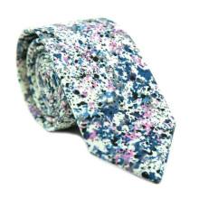 Os Recém-chegados 2018 Floral Print Masculina Skinny Custom Cotton Necktie