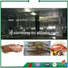 Congélateur industriel en spirale de viande