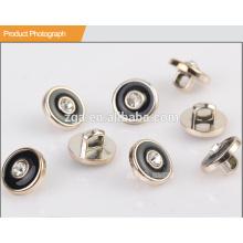 UV Plating Resin Button with Rhinestone BA60086