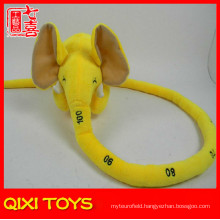 yellow long nose elephant plush toy baby height measuring scale