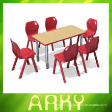 Splicing type plastic student table