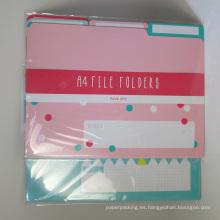 Paquete de carpetas de papel A4 de 6
