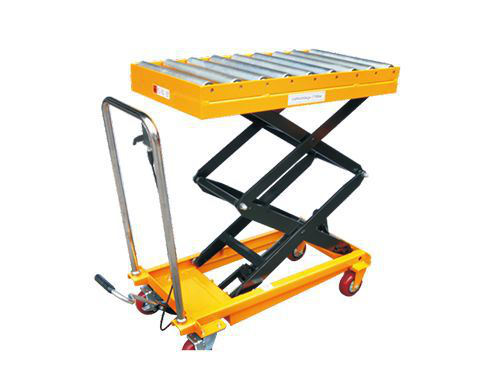 Customized Roller Table Mobile Mini Lift Trolley1