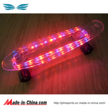 LED Fleshing Penny Fish Skateboard