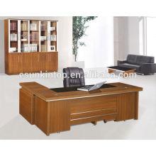 Mesa de escritório moderna de vidro de boa qualidade, Fábrica de móveis de escritório profissional em Foshan
