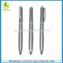 2015 high quality thin promotional metal pen with custom logo