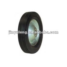 8x1.7solid rueda de goma
