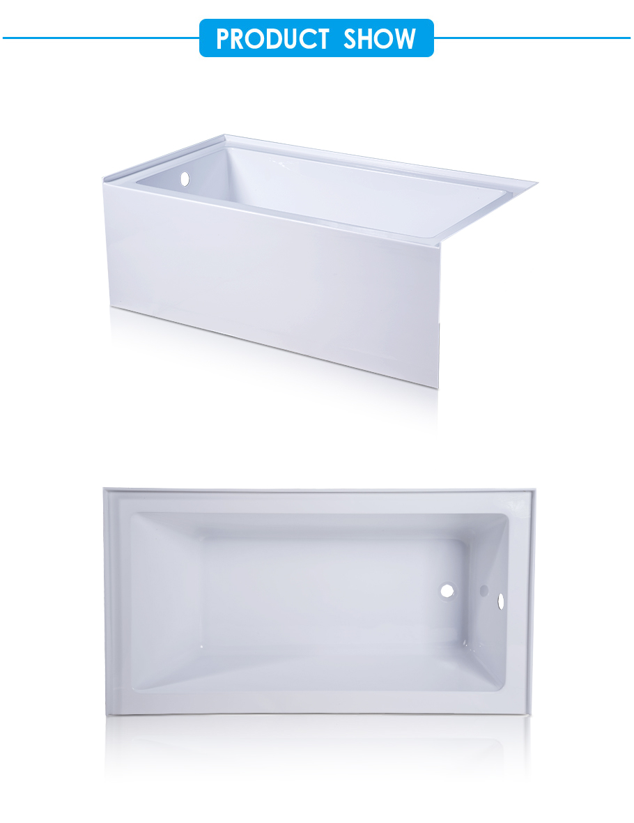 Classic Soaking Alcove Tub in High Gloss White