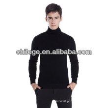 Men roll polo neck cashmere sweater