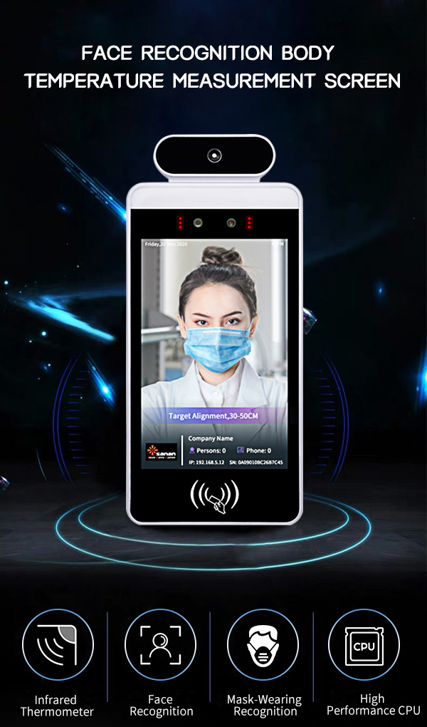 Face Recognition Body Temperature Measuremet Screen