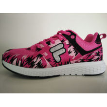 Young Lady Cut Pink Print Comfort Running Footwear