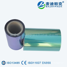Blue and Green Medical Transparent CPP/PET Plastic Film