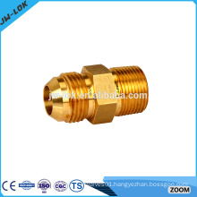 Gas brass inverted flare fittings